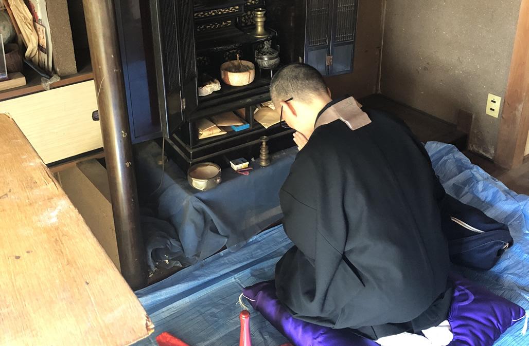山口県での訪問仏壇魂抜き(閉眼供養)
