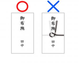 (2)白い封筒に水引なしで入れる
